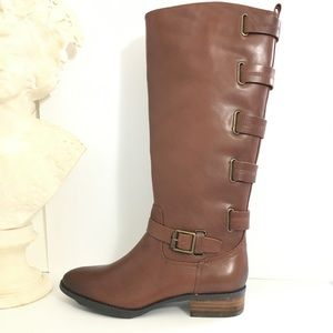 Sole Society Franzie Vintage Cognac Leather Boot